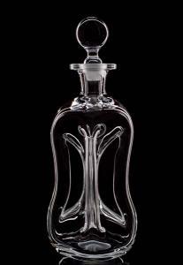 Flasche auf Schwarz