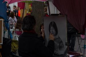 Straßenmaler auf dem Montmatre