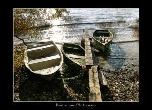 Boote am Plattensee