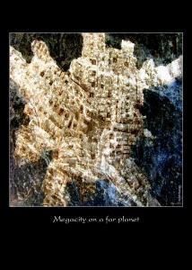 Megacity on a far planet