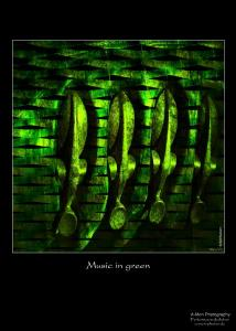 music in green