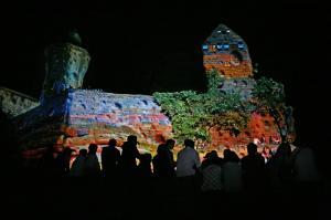 """2009 """"Tour de Space"""" Lichtinszenierung"""