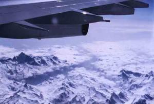 Peter Offergeld-Endlich Urlaub, über den Alpen